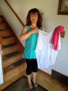 My latest prize win from the FabOverFifty website www.faboverfifty.com, $300 worth of Barbara Lesser clothing!