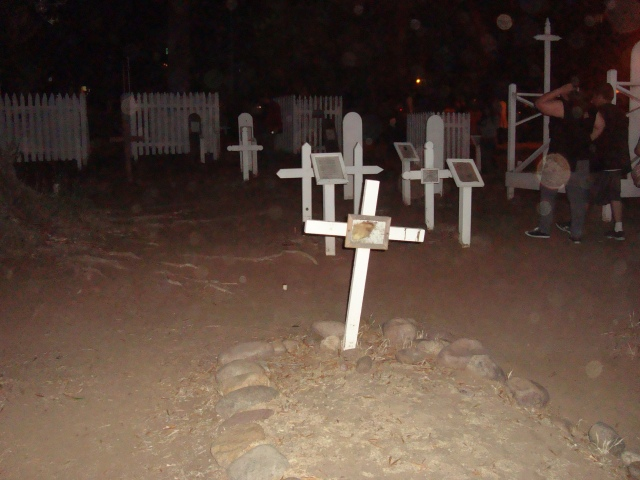 Cemetery at Old Town, San Diego.  Taken while on a walking tour with Old Town's Most Haunted