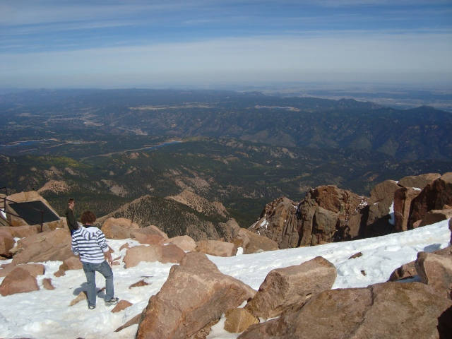 The view from the top of Pike's Peak!