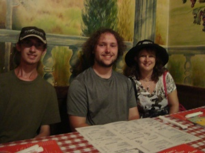 Filippe's in Little Italy.  A fantastic meal with wonderful ambiance!  We loved eating Italian food in Little Italy!