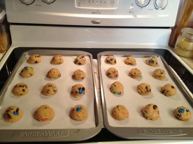 Cookie Dough ready to go into the oven