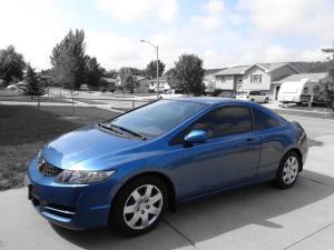 A Blue Honda