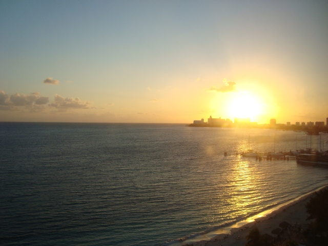 A beautiful sunrise in Cancun - February 2013