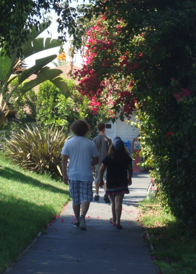 "A shot of the kids enjoying a walk during our ""bonus day"" in San Diego this summer"