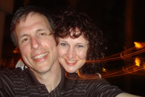 One of my favorite pictures of Todd and I.  Totally relaxed and having fun together! :)