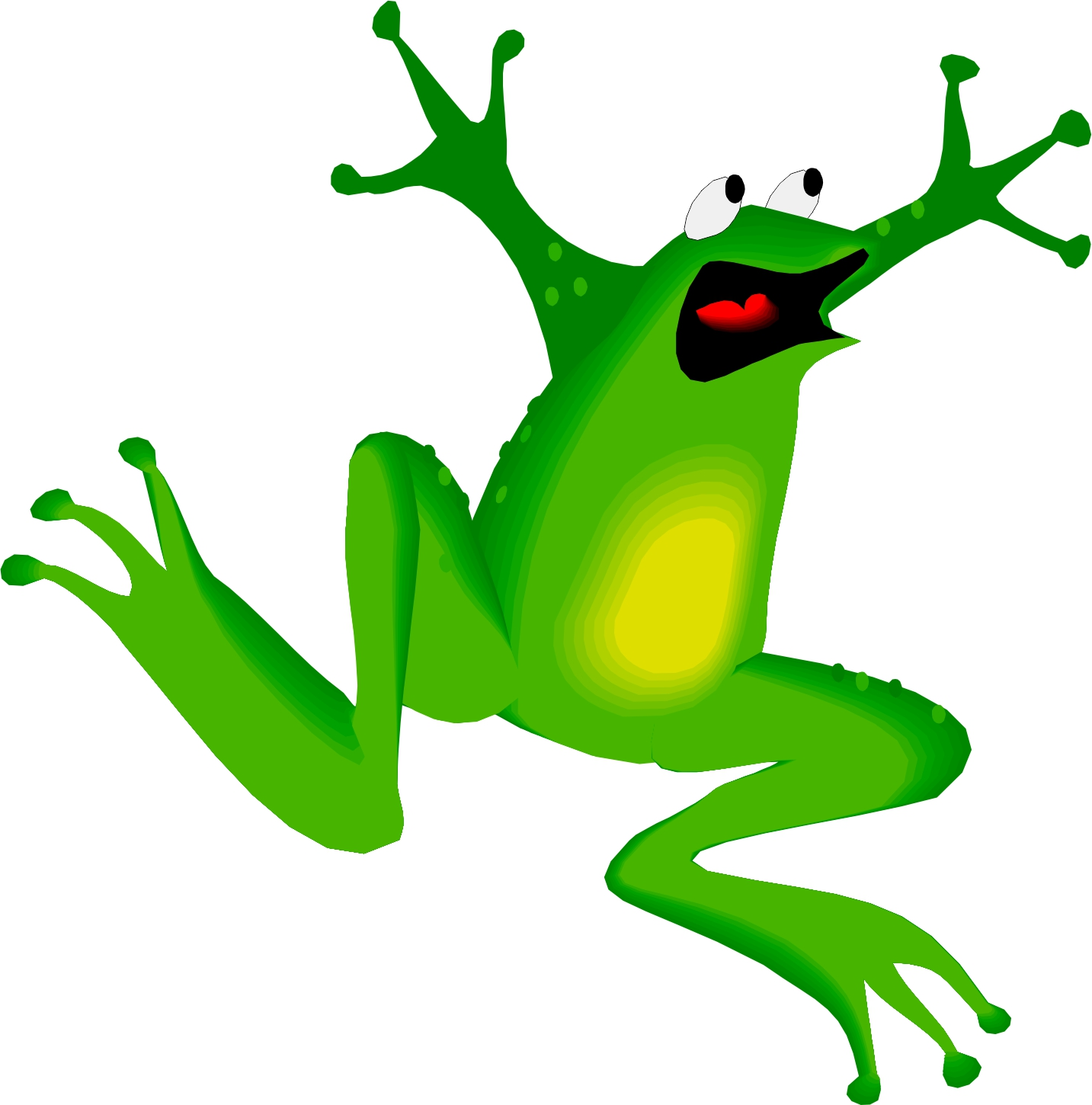 why frogs jump Frogs are known for their ability to leap and jump long-legged frogs use quick, powerful jumps to escape from predators a jumping frog can leap away from danger in an instant and hide safely in the water not all frog species can jump frogs with shorter legs walk, crawl, or only hop short distances.